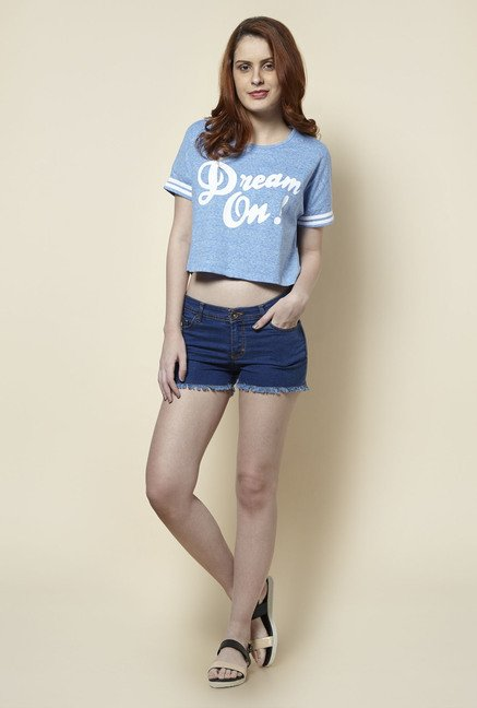 Zudio Blue Denim Shorts
