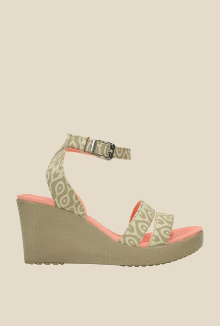 873e58e6c45bb2 Buy Crocs Stucco   Tumbleweed Ankle Strap Wedges for Women at Best ...