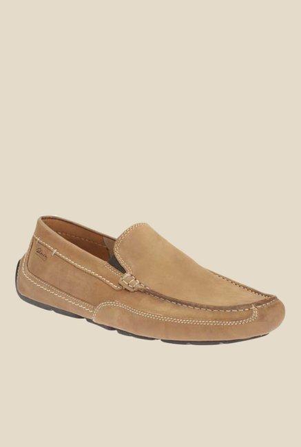 Clarks Ashmont Step Light Brown Slip-Ons