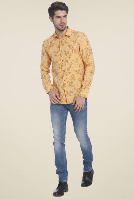 1dd9ba816 Buy Jack & Jones Orange Printed Shirt for Men Online @ Tata CLiQ