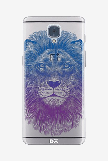 DailyObjects Stoned Lion Clear Case for Oneplus 3
