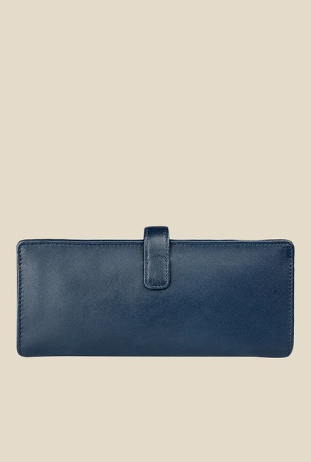 Hidesign Hemlock W1 Navy Bi-Fold Leather Wallet