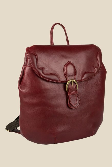 Hidesign Hemlock 02 Maroon Solid Leather Backpack