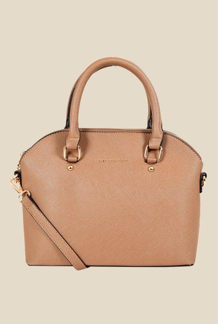 Lino Perros Light Brown Solid Handbag