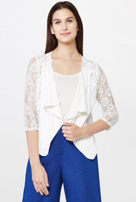 AND White Lace Shrug