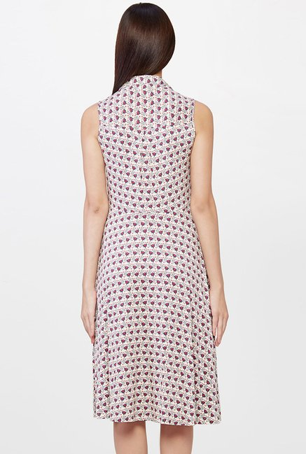 AND Beige Printed Dress