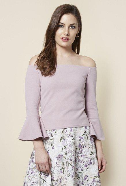 FG4 London Milly Bardot Purple Solid Top