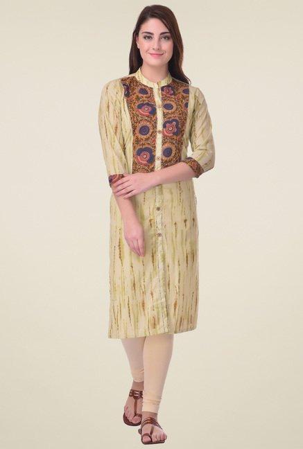 Indi Dori Multicolor 3/4th Sleeves Kurta