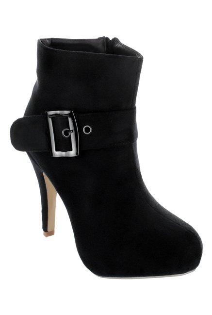 Shuz Touch Black Stiletto Heeled Booties