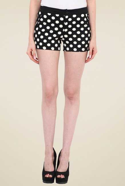 Mocking Bird Black Mid Rise Shorts