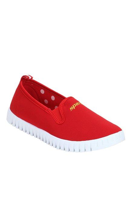 Sparx Red & White Plimsolls