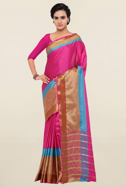 Triveni Pink Art Silk Saree