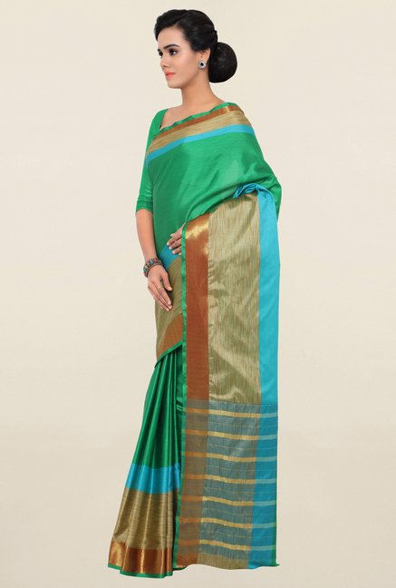 Triveni Green Art Silk Saree