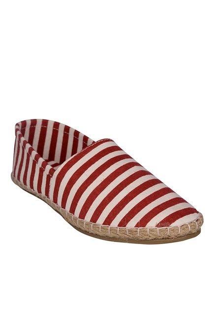 Bruno Manetti Red & White Espadrilles