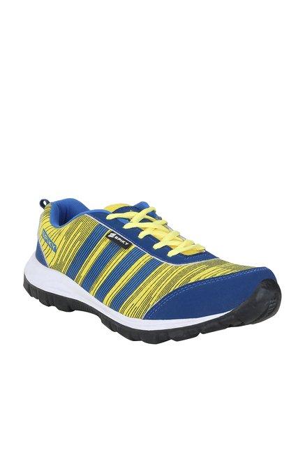 92d6dd775f70 Buy Spiky Royal Blue   Lemon Yellow Running Shoes for Men at Best Price   Tata  CLiQ