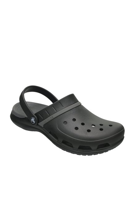 7b025b868 Buy Crocs Modi Sport Black   Graphite Grey Back Strap Clogs for Men ...