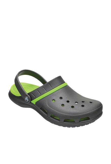 da89399bead3 Buy Crocs Modi Sport Graphite Grey   Volt Green Back Strap Clogs for Men at  Best Price   Tata CLiQ