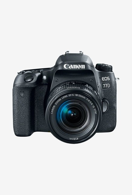 Canon EOS 77D  EF S18 55mm f/4 5.6 IS STM Lens  DSLR Camera with 16  GB Card and Carry Case  Black