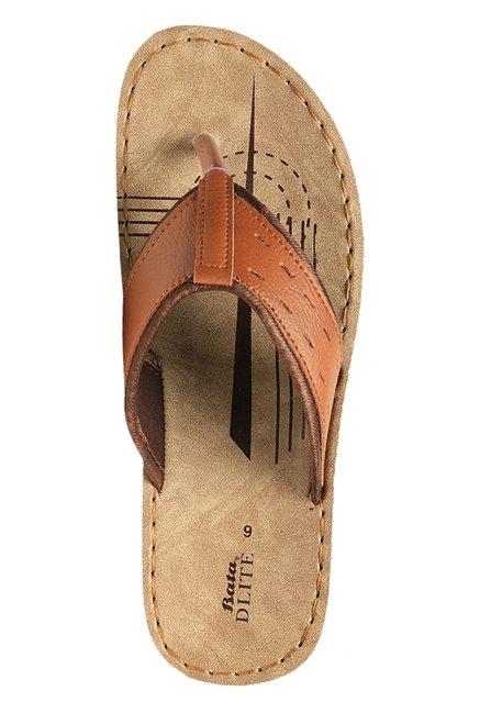 Bata Mirage Tan \u0026 Brown Thong Sandals