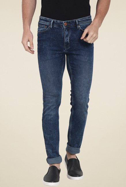 celio* Blue Skinny Fit Lightly Washed Jeans