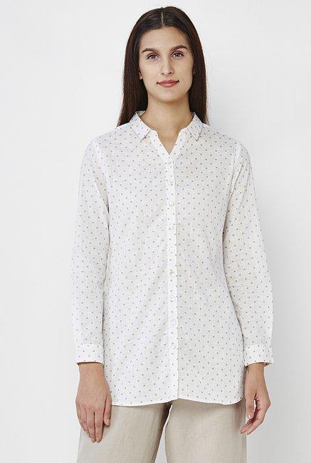 AND Off White Polka Dot Shirt