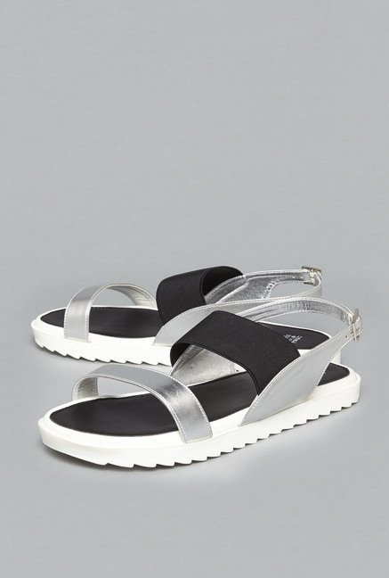 141cd6247eee Buy Head Over Heels by Westside Silver Sling Back Sandals For Women Online  At Tata CLiQ