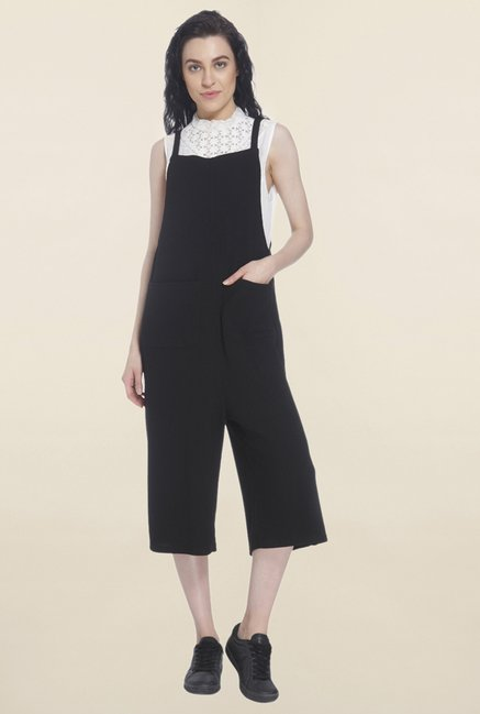 Vero Moda Black Solid Jumpsuit