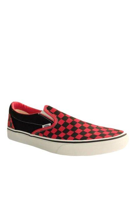 Vans Classics Black & Red Plimsolls