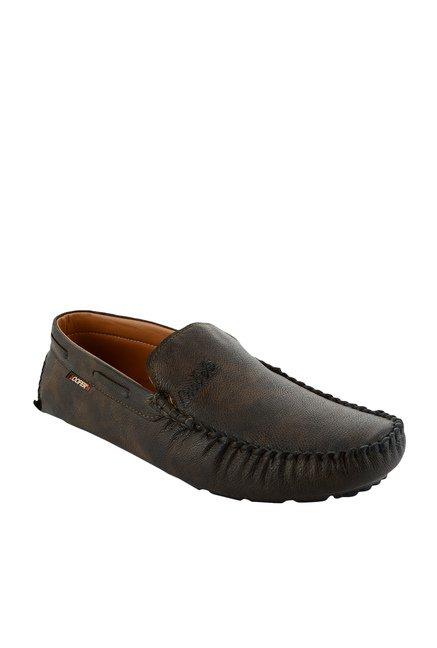 Fashion Victim King Series Fashionista Mehendi Brown Loafers