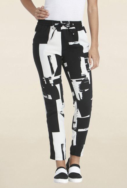 Buy Only Black White Printed Pant For Women Online Tata Cliq