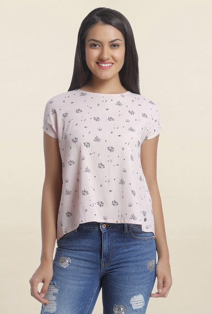 Only Pink Printed Top
