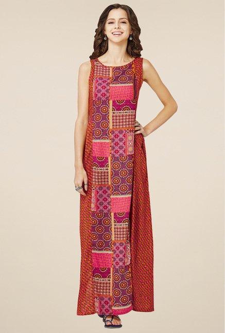 Buy Global Desi Pink Sleeveless Dress for Women Online @ Tata CLiQ