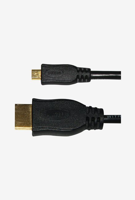 Amzer Micro HDMI High Speed Male To HDMI Male Cable (Black)