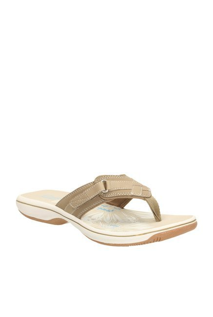 819ab5edb3f Buy Clarks Brinkley Sea Greystone Dark Beige Thong Sandals for Women at  Best Price   Tata CLiQ