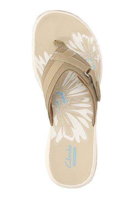 b24f190a4b79 Buy Clarks Brinkley Sea Greystone Dark Beige Thong Sandals for Women ...