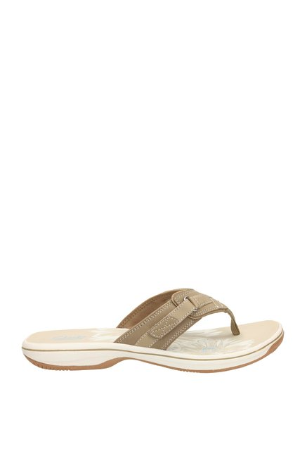 105c24c0cf6 Buy Clarks Brinkley Sea Greystone Dark Beige Thong Sandals for Women ...