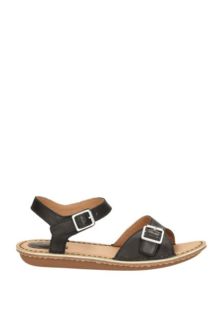 519c0a970db8 Buy Clarks Tustin Sea Black Ankle Strap Sandals for Women at Best ...