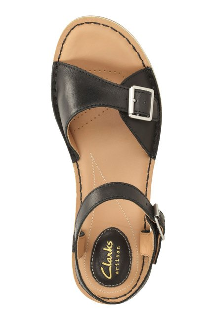 f41c58b67e12 Buy Clarks Tustin Sea Black Ankle Strap Sandals for Women at Best ...