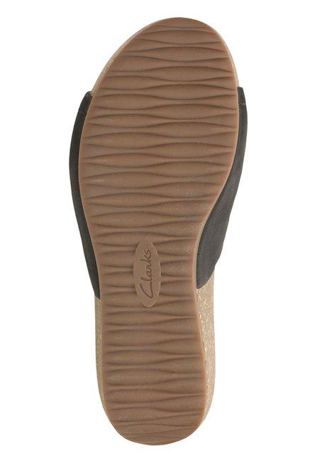 295055e4de7 Buy Clarks Temira North Black Wedges for Women at Best Price   Tata CLiQ