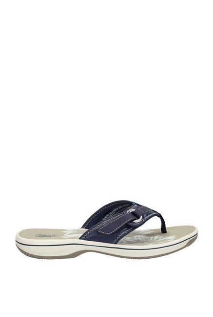 8bb4a81850121 Buy Clarks Brinkley Mila Navy Thong Sandals for Women at Best Price ...