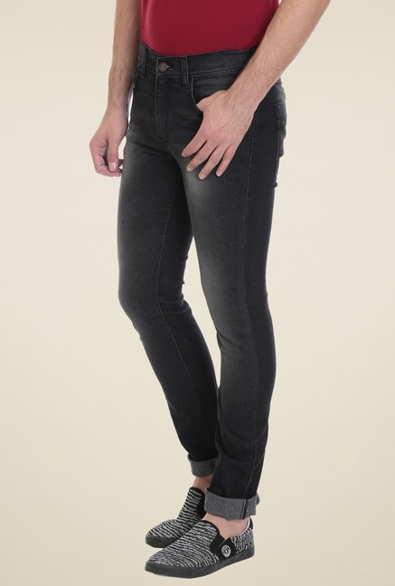Vudu Black Lightly Washed Jeans