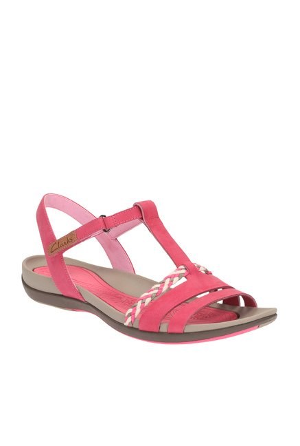 8e4f1912299 Buy Clarks Tealite Grace Light Red T-Strap Sandals for Women at Best Price    Tata CLiQ