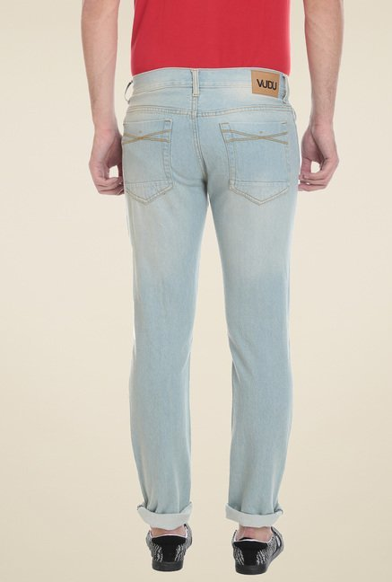 Vudu Sky Blue Slim Fit Jeans