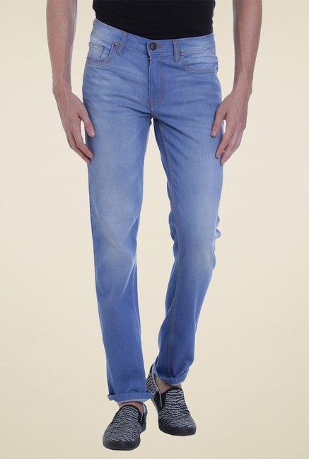 Vudu Light Blue Mid Rise Slim Fit Jeans