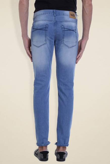 Vudu Light Blue Slim Fit Mid Rise Jeans