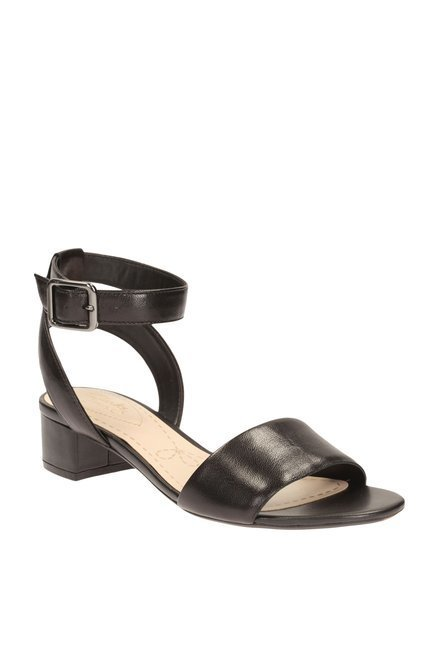 ea84549b929d53 Buy Clarks Sharna Balcony Black Ankle Strap Sandals for Women at Best Price    Tata CLiQ