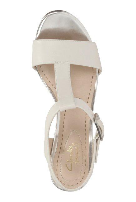 cbe6677d7d1 Buy Clarks Smart Deva White T-Strap Sandals for Women at Best Price ...