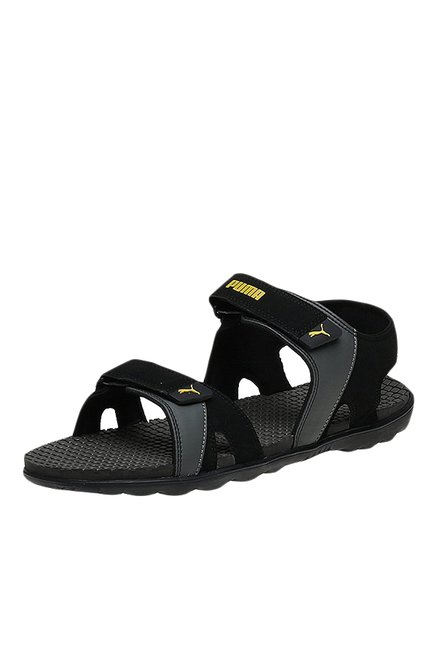d862d40b3379 Buy Puma Comet IPD Black Floater Sandals for Men at Best Price   Tata CLiQ
