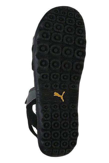 c7182f8d30ba Buy Puma Comet IPD Black Floater Sandals for Men at Best Price ...