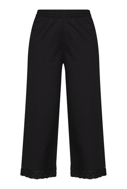 Utsa by Westside Black Solid Palazzos